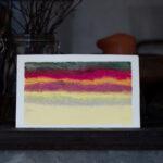 Raitapiirros, värit nokkosentaimesta Kuva: Terhi Ilosaari